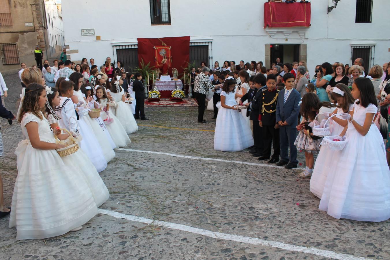 Celebración del Corpus Christi 2014 en Jerez de los Caballero